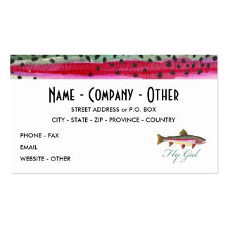 Fly Fishing Woman's Business Card