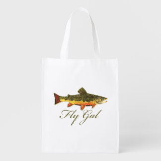 Fly Fishing Woman's Market Totes