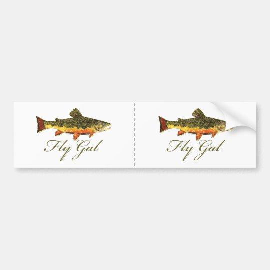 Fly Fishing Women Bumper Sticker