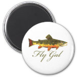 Fly Fishing Women Magnets