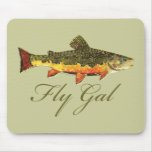Fly Fishing Women Mouse Pad