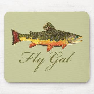 Fly Fishing Women Mousepad