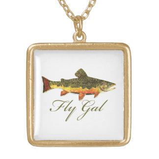 Fly Fishing Women Pendant