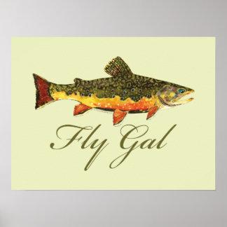 Fly Fishing Women Poster