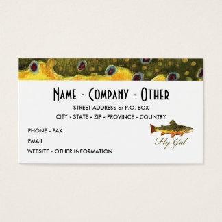 Fly Fishing Women's Business Card