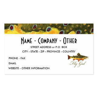 Fly Fishing Women's Business Card Templates