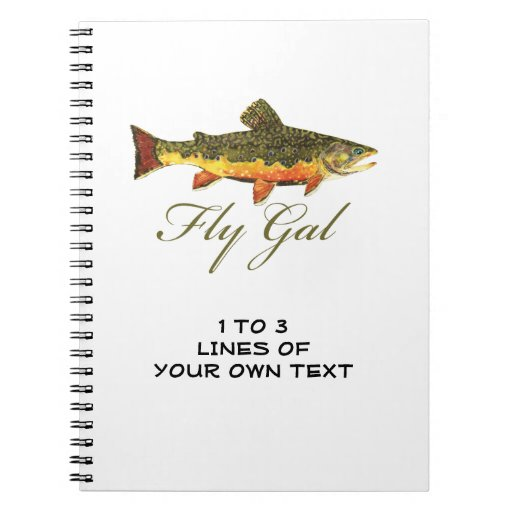Fly Fishing Women's Spiral Note Book