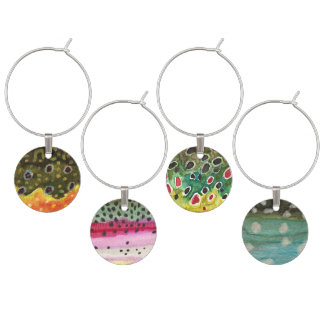 Fly Fishing Wine Charms