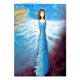 Fly Forth Angel  Christmas Greeting Card