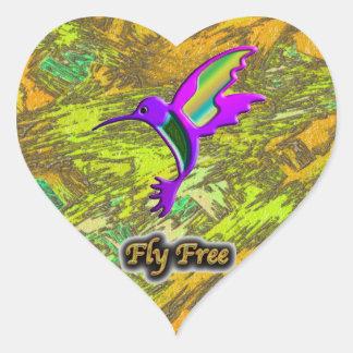 Fly Free #10 Heart Sticker