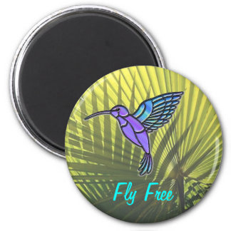 Fly Free 2 Inch Round Magnet