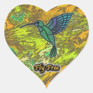 Fly Free #4 Heart Sticker