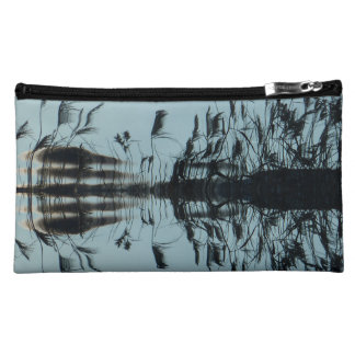 """""""Fly free"""" Abstract Black cosmetic bag or purse"""