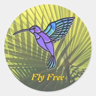 Fly Free Classic Round Sticker