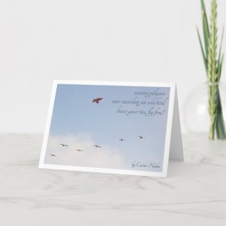 Fly Free haiku (or write your own poem) Card