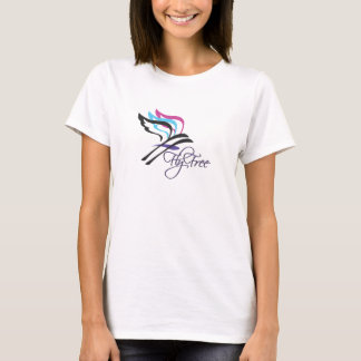 Fly Free Ladies V-Neck T-Shirt
