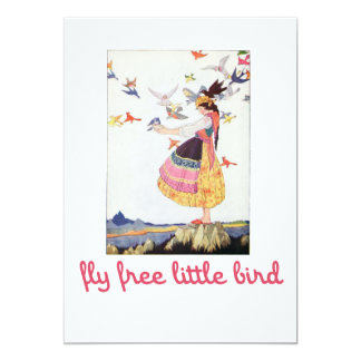 Fly free little bird card