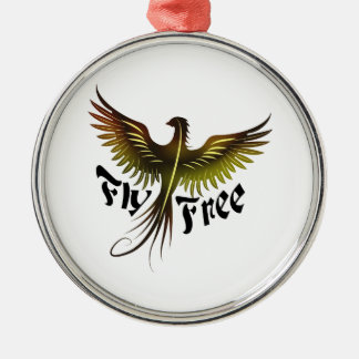 Fly Free Metal Ornament