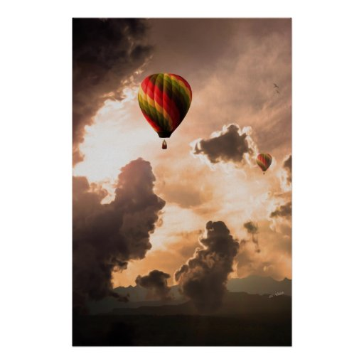 Fly Free My Hot Air Balloon – The Journey Edition Print