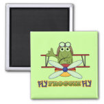 Fly Froggie Fly Tshirts and Gifts 2 Inch Square Magnet