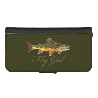 """Fly Gal"" Fly Fishing iPhone SE/5/5s Wallet Case"