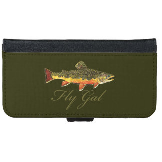 """Fly Gal"" Fly Fishing Wallet Phone Case For iPhone 6/6s"