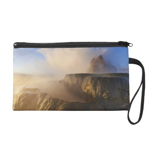 Fly Geyser with snow capped Granite Range 2 Wristlet Purses