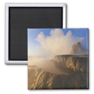 Fly Geyser with snow capped Granite Range 2 Magnet