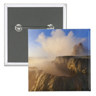 Fly Geyser with snow capped Granite Range 2 Pinback Button