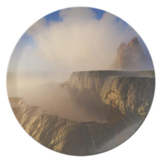 Fly Geyser with snow capped Granite Range 2 Party Plate