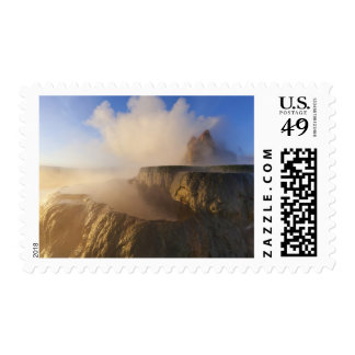 Fly Geyser with snow capped Granite Range 2 Postage