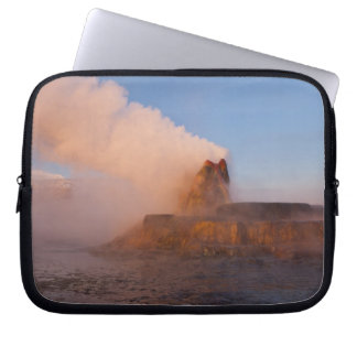 Fly Geyser with snow capped Granite Range 3 Laptop Computer Sleeves
