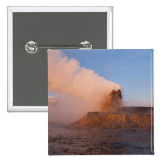 Fly Geyser with snow capped Granite Range 3 Pinback Button