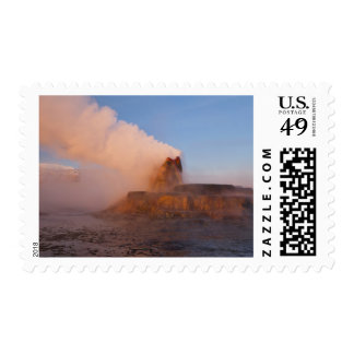 Fly Geyser with snow capped Granite Range 3 Postage
