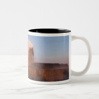 Fly Geyser with snow capped Granite Range 3 Two-Tone Coffee Mug