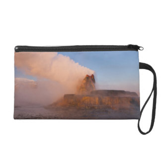 Fly Geyser with snow capped Granite Range 3 Wristlet Purse