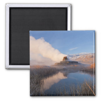 Fly Geyser with snow capped Granite Range 4 Magnet