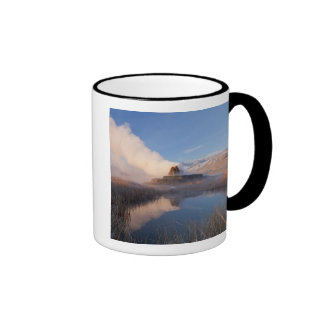 Fly Geyser with snow capped Granite Range 4 Coffee Mugs