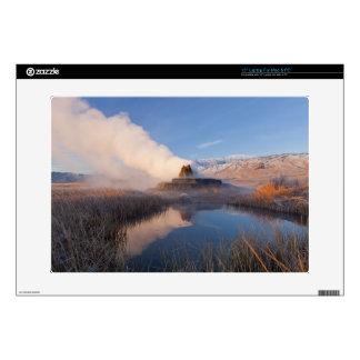 "Fly Geyser with snow capped Granite Range 4 15"" Laptop Skins"