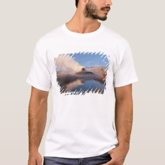 Fly Geyser with snow capped Granite Range 4 T-Shirt