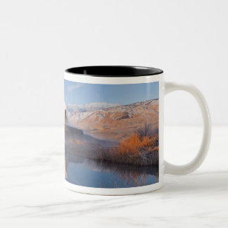 Fly Geyser with snow capped Granite Range 4 Two-Tone Coffee Mug