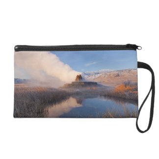 Fly Geyser with snow capped Granite Range 4 Wristlet Purse