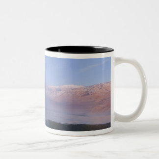 Fly Geyser with snow capped Granite Range Mugs