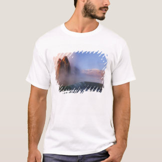 Fly Geyser with snow capped Granite Range T-Shirt
