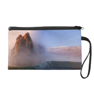 Fly Geyser with snow capped Granite Range Wristlet