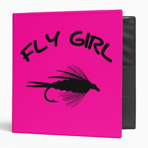 FLY GIRL FLY FISHING 3 RING BINDERS