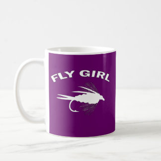 FLY GIRL FLY FISHING COFFEE MUG