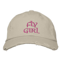 FLY GIRL FLY FISHING EMBROIDERED BASEBALL CAPS