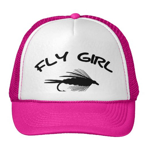 Fly girl fly fishing trucker hat zazzle for Fly fishing trucker hat