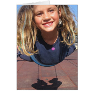 Fly Girl on Swing Card